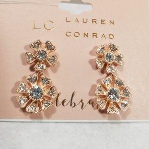 LC Lauren Conrad Double Flower Stud Earrings